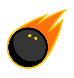 sport ball fire squash vector image
