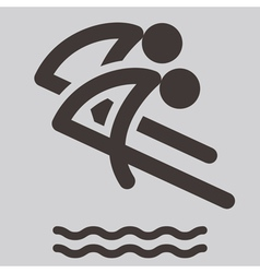 Synchronized diving icon vector