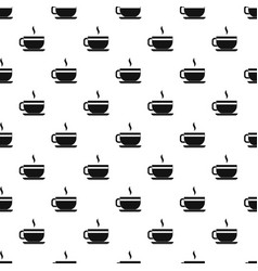 Tea cup and saucer pattern vector