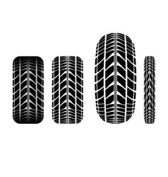 Tire track 3 vector