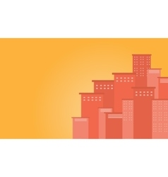 Silhouette of urba city design flat vector