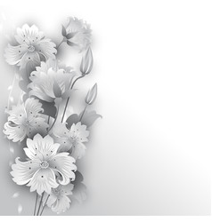 Flowers graphic styl vector