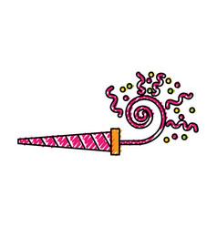 Scribble serpentine shot cartoon vector