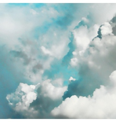 Turquoise clouds vector