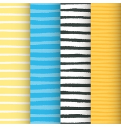 Painted stripes seamless patterns set vector