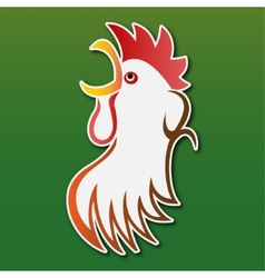 Sticker - colored stylized rooster vector