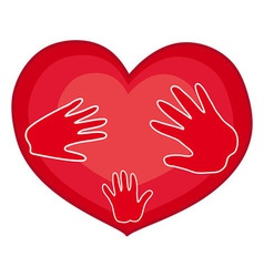 Hands on heart vector