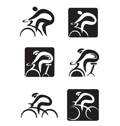 Spinning cycling icons vector
