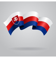 Slovak waving flag vector