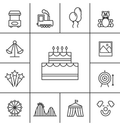 Birthday and celebration icons vector