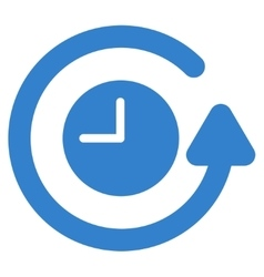 Restore clock icon vector