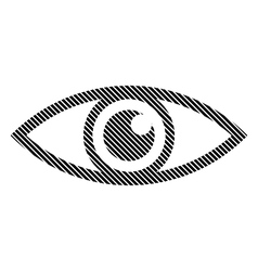 Eye sign on white vector