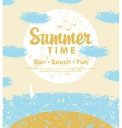 Summer time to the beach vector