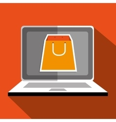 User ecommerce laptop isolated icon design vector