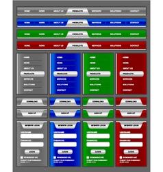 Navigation menu and website elements vector