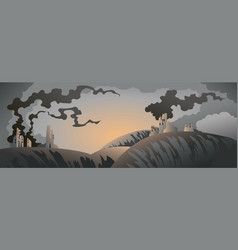 Apocalyptic landscape vector
