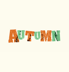 Autumn concept stamped word art vector