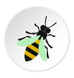 bee icon circle vector image