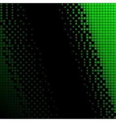 black and green halftone background vector image
