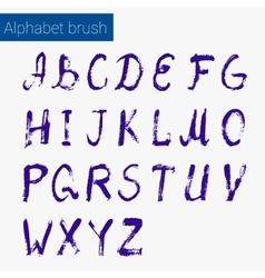 Brush script ink alphabet vector