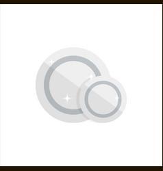 empty white plates isolated on white background vector image