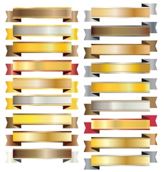 Gold vintage ribbon banner vector