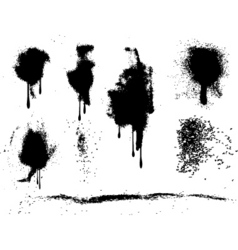 grunge paint splats vector image