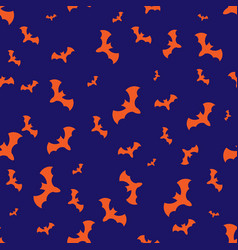 Halloween pattern with bats vector