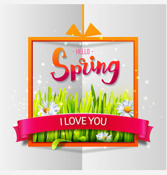 Hello spring love card vector