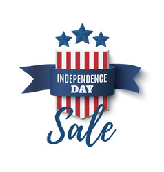 Independence day sale background 4th of july vector