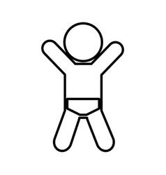 little baby silhouette icon vector image