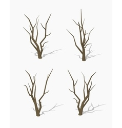 Low poly dried tree vector image vector image