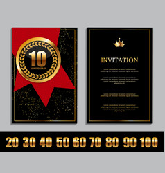 Luxury template set of anniversary celebration vector