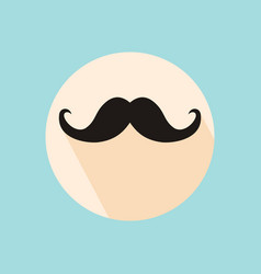 mustache icon mustache icon flat mustache icon vector image vector image