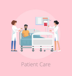 patient care and nurses on vector image vector image
