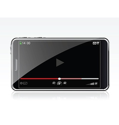 Phone with video app vector