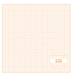Printable graph paper 12x12 inch size vector