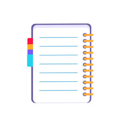 purple notebook icon on white vector image