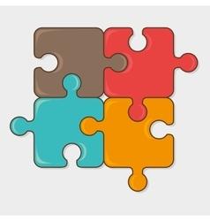 Puzzle game design vector image