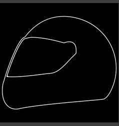 Racing helmet the white path icon vector
