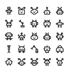 Robotic line icons vector