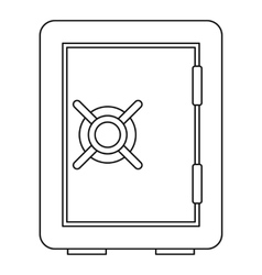 Safety deposit box icon outline style vector