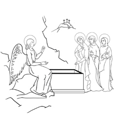 Scene of mary magdalene vector