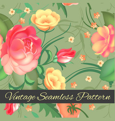 Seamless pattern roses beautiful pattern for vector