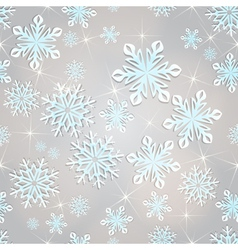 Seamless snowflakes background for winter and vector image vector image