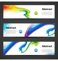 Set of polygonal banners backgrounds for vector
