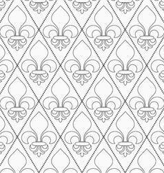 Shades of gray contoured Fleur-de-lis vector image