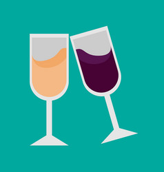 simple double drink glassses vector image