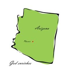 State of Arizona vector image vector image