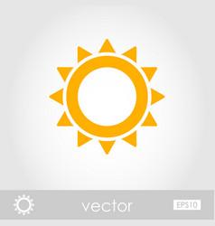Sun outline icon summer vacation vector